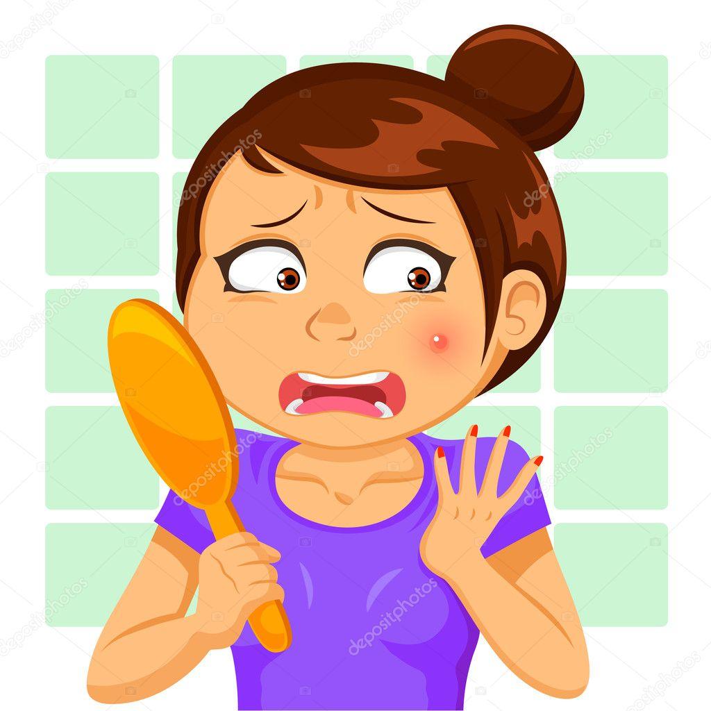 Girl Shocked Cartoon Faces