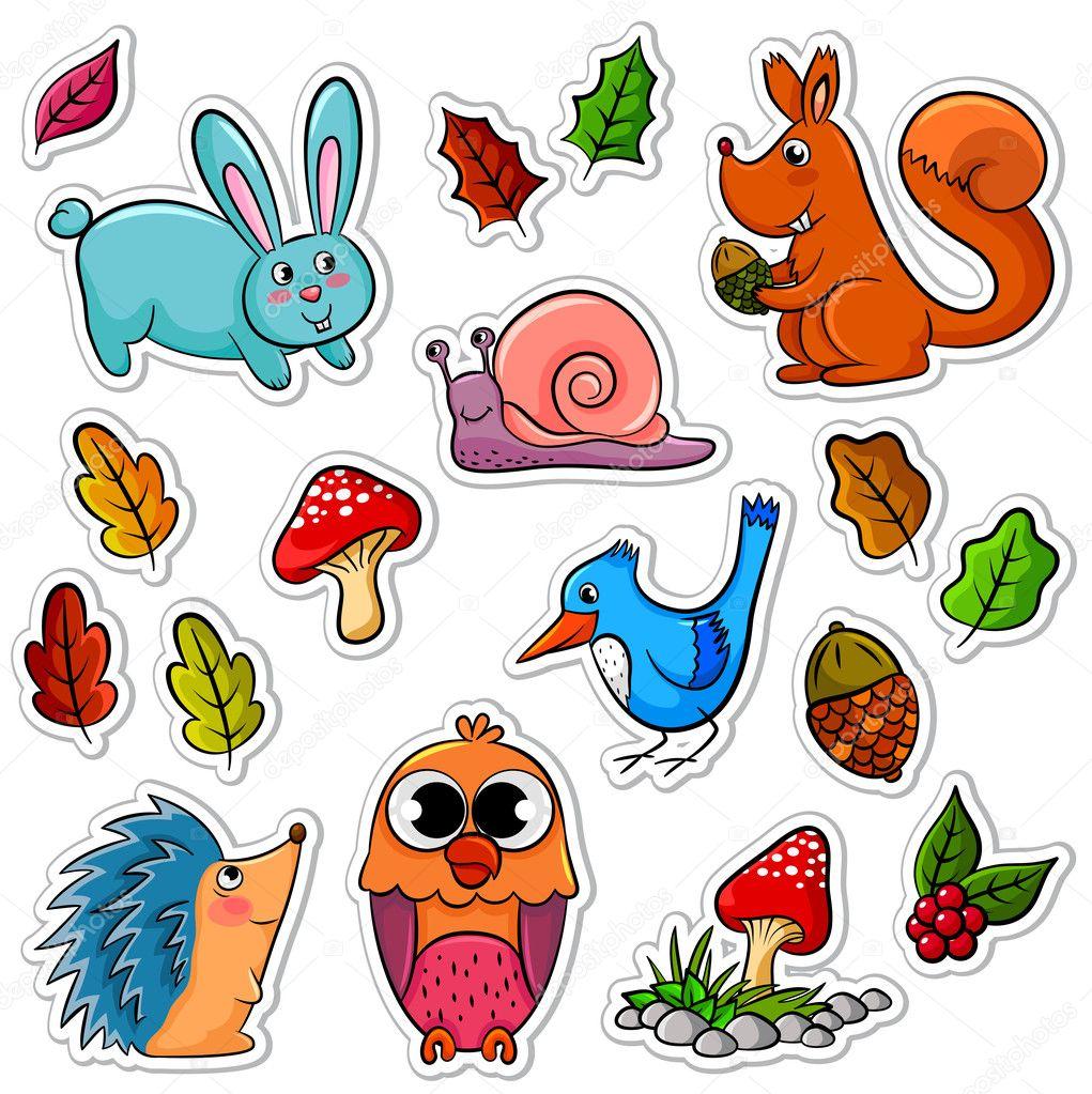 森林动物 — 图库矢量图像08