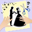 Wedding scene - Stock Vector