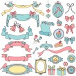 Vintage doodles - Stock Vector