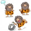 Stock Vector: Cavemen