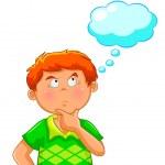 tänkande pojke — Stockvektor