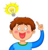 Boy with an Idea — Stock Vector