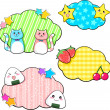 Cute stickers — Stock Vector #11479605