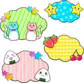 Cute stickers — Stock Vector