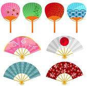 Japanese fans — Stockvector
