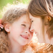 Stock Photo: Young mother and her daughter