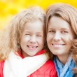 Happy young mother and small daughter. — Stock Photo