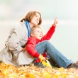 Happy young mother and small daughter. — Stock Photo #11431219