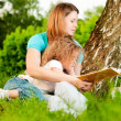 Mother reading book to her daughter — Stock Photo #11431229
