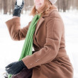 Stock Photo: Winter portrait of young woman