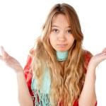 Confused teenage girl — Stock Photo