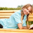 Beautiful young student girl — Stock Photo