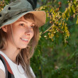 Young woman backpacker — Stock Photo