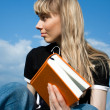 Girl reading the book — Stock Photo