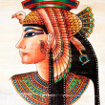 Egyptian Papyrus painting — Stock Photo
