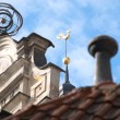 Rooftops of old houses in centre of RIga, Latvia - Stockfoto