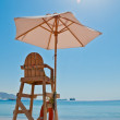 Beach security chair - Stock Photo