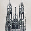 Old drawing of catholic church — Stock Photo