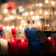 Church candles in dark — Stock Photo