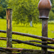 Pot on fence — Stock fotografie