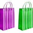 Green and magenta packets — Stock Photo