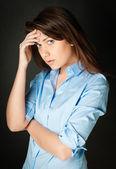 Beautiful and sad young woman — Stock Photo