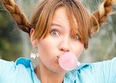 Menina linda jovem estudante — Foto Stock