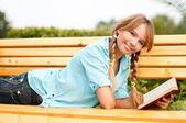 Beautiful young student girl — Stock Photo