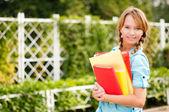 Krásná mladá studentka — Stock fotografie