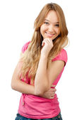 Teenage girl smiling — Stock Photo