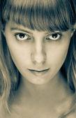 Porträt von schönen mädchen nahaufnahme — Stockfoto