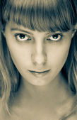 Close up portrait of beautiful girl — Stock fotografie