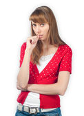 Worried young girl — Stock Photo