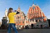 Riga old Town center — Stock Photo