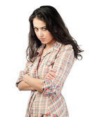 Beautiful and unhappy young woman — Stock Photo