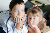 Brother and his sister — Stock Photo
