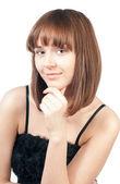 Krásná mladá žena myšlení — Stock fotografie