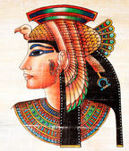 Egyptian Papyrus painting — Stock fotografie