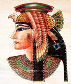 Pintura de papiro egípcio — Foto Stock