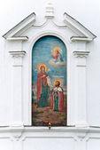 Bogolubovo manastırı duvar boyama — Stok fotoğraf