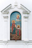 Painting on the wall of Bogolubovo monastery — Stock Photo