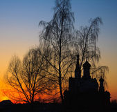 Church at dusk — Stock Photo