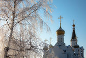 Church at winter — Stockfoto