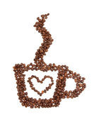 Coffee beans cup — Stock Photo