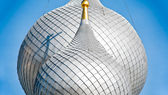 Details of russian church domes. — Stock Photo