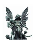 Statue of fallen angel — Stock Photo