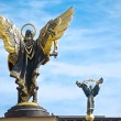 Statues on Independence Square in Kiev - Stock Photo