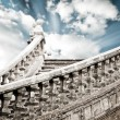 Ancient stairs up to the sky - Stock Photo