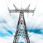 Power grid pylon — Stock Photo
